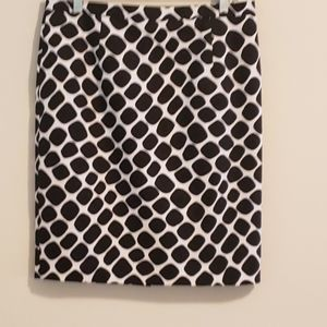 MICHAEL Michael Kors Skirt, Black/White, Sz 10